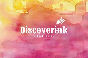 discoverink-logo-logotipo-graphic-design-branding-barcelona-app-tatuaggi-acquarello-catania