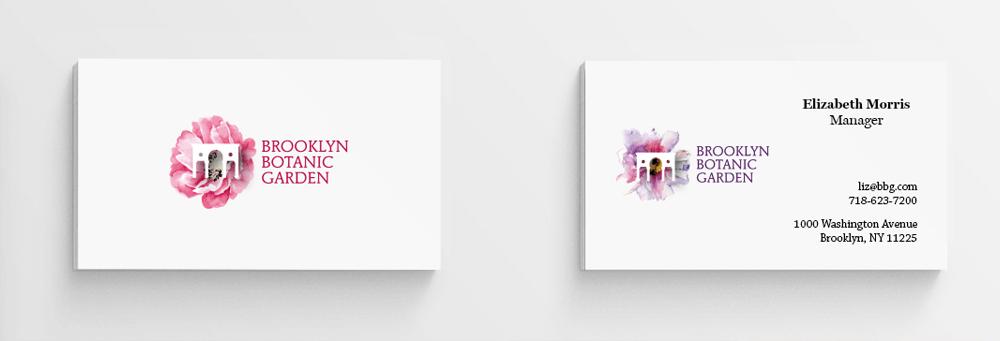 branding projects brooklyn-botanic-garden-nyc-business-card-logo-design-branding-flower-plants