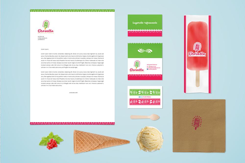 grosella-paletas-helados-mexicanos-naturales-mexico-barcelona-logo-branding-diseño-grafico-papeleria-packaging